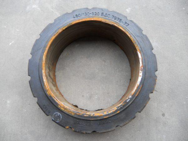 ШИНА МАСИВНАЯ 450/130-320 182731 6095 02.00.00 задние ЕВ 717 колесо литое , шина бандажная ( бескамерное )