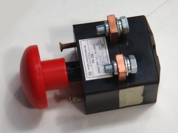 Переключатель аварийный ПА-160А РА 160/250А , выключатель / включатель на массу элетропогрузчика , электрокары 173247 4430010000 443250 4081