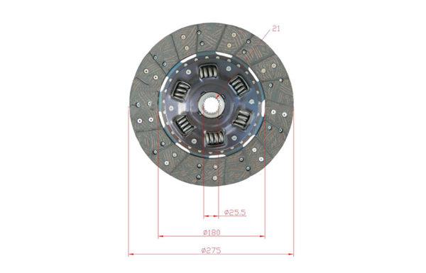Диск сцепления 31270-23361-71 для погрузчика Toyota 32-8FG30